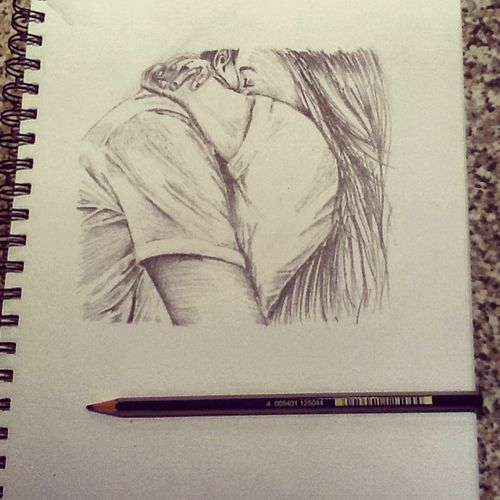 cute couple drawing ideas tumblr - Google Search