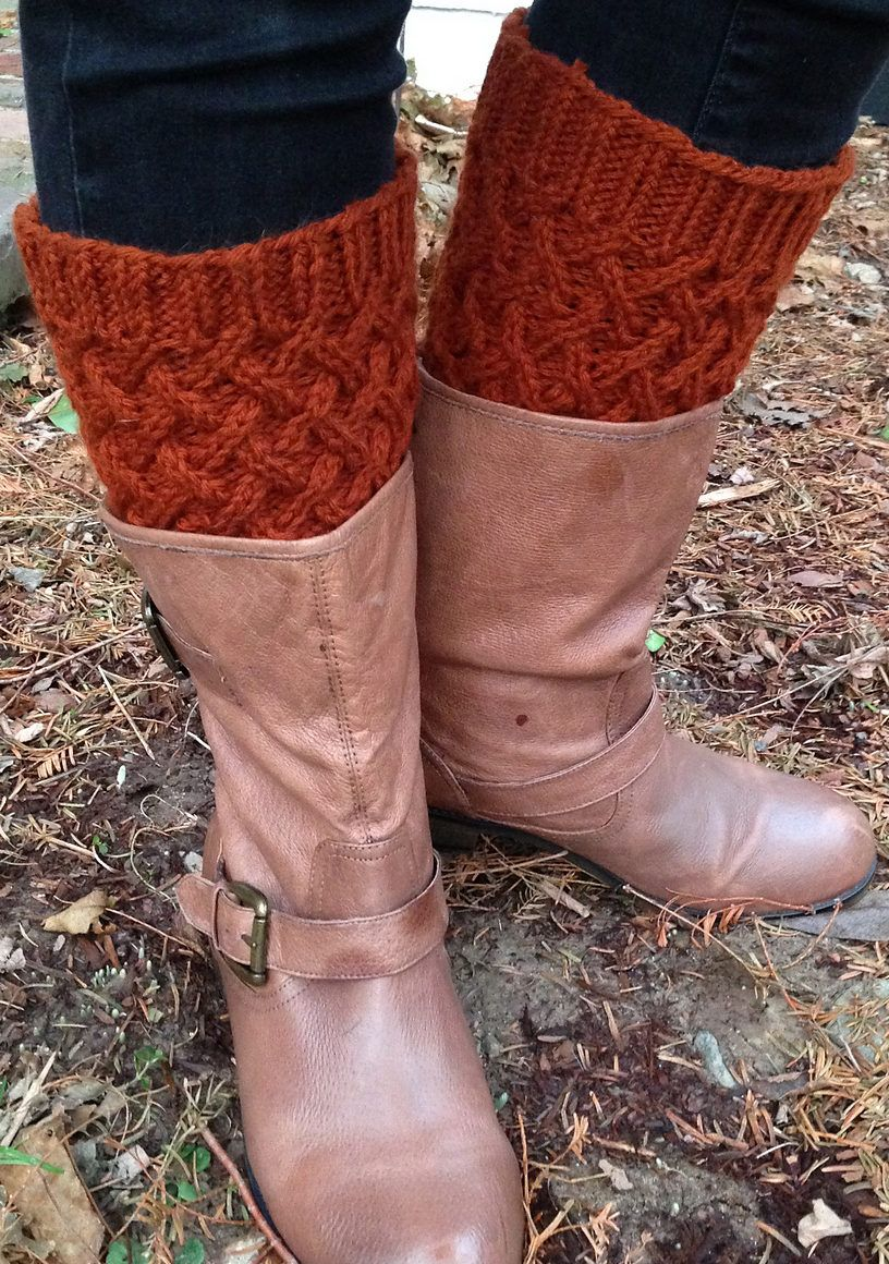 Free Knitting Pattern for Cabled Boot Toppers | Knitting | Pinterest ...