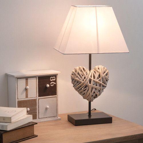 lampe de chevet c ur rotin lampe de chevet chevet et rotin. Black Bedroom Furniture Sets. Home Design Ideas