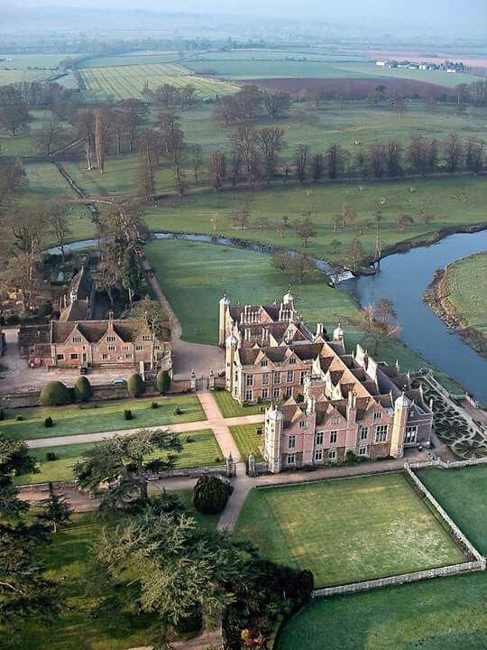 Charlecote Park, Warwickshire. Charlecote Park is a grand 16th century country house, It covers 185 acres (75 ha), backing on to the River Avon.surrounded by its own deer park, on the banks of the River Avon near Wellesbourne, about 4 miles east of Stratford-upon-Avon.