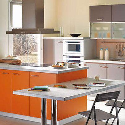 En decoración de cocina la tendencia es integrar un pequeño comedor ...
