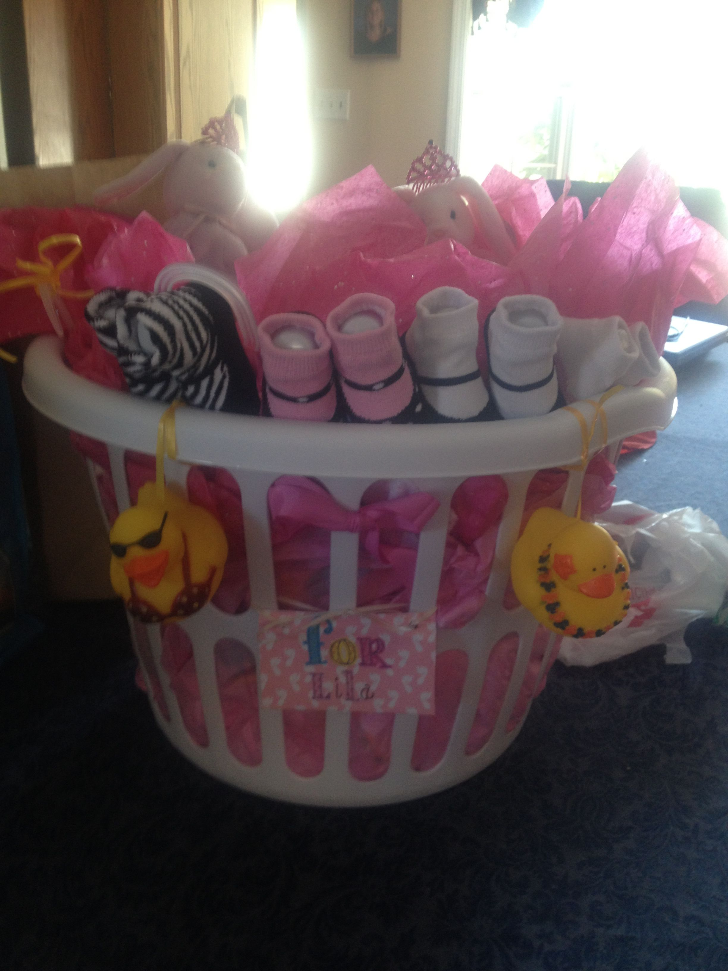 Baby Laundry Basket Gift Baby Shower Gift Fill A Laundry Basket With All The Baby