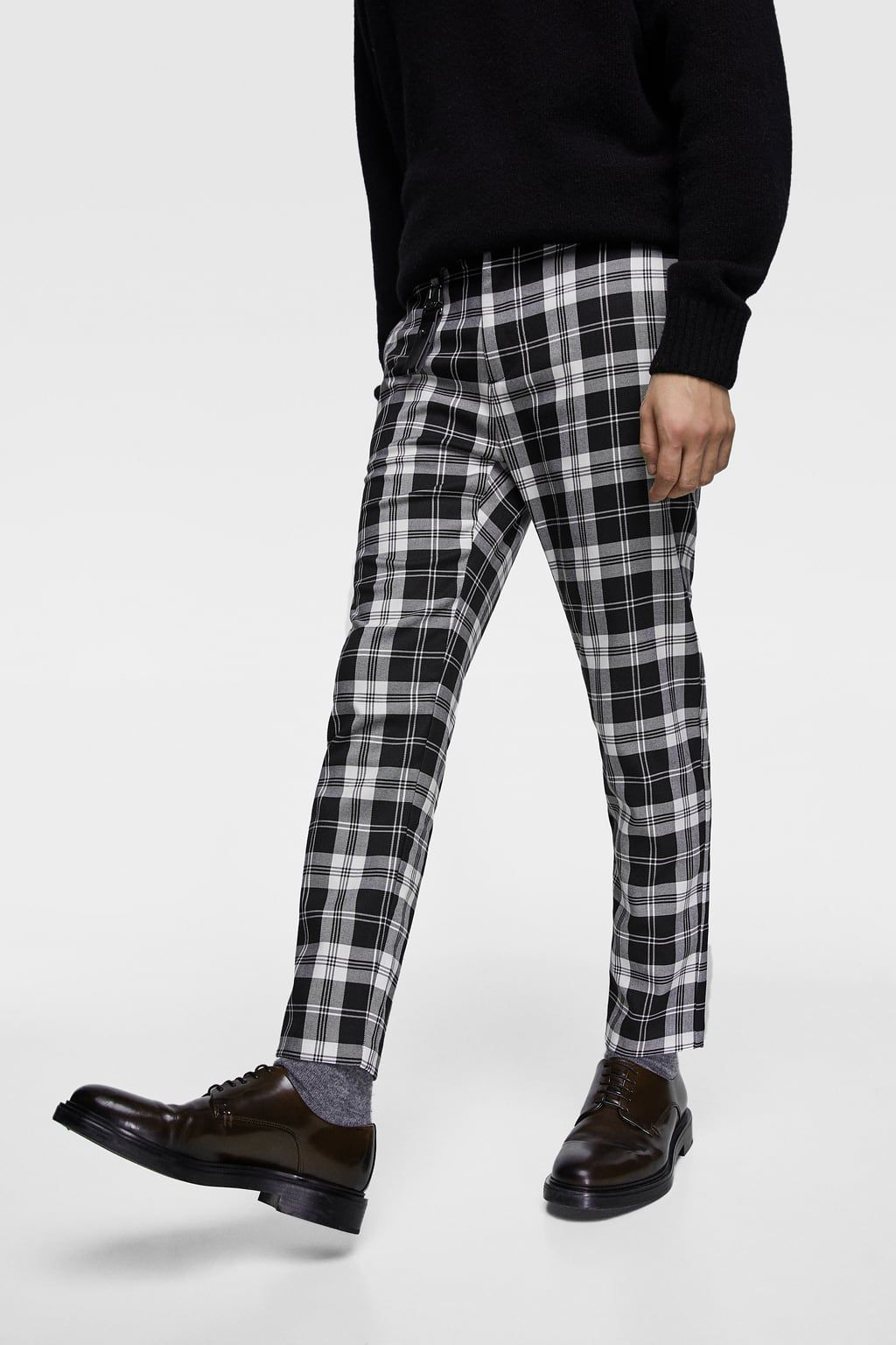 Imagen 2 De Pantalon Cuadros De Zara Pants Outfit Men Mens Plaid Pants Pants Outfit Work