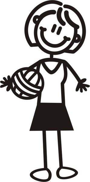 Mama Voleibol Netball Stick Figures Volleyball Images