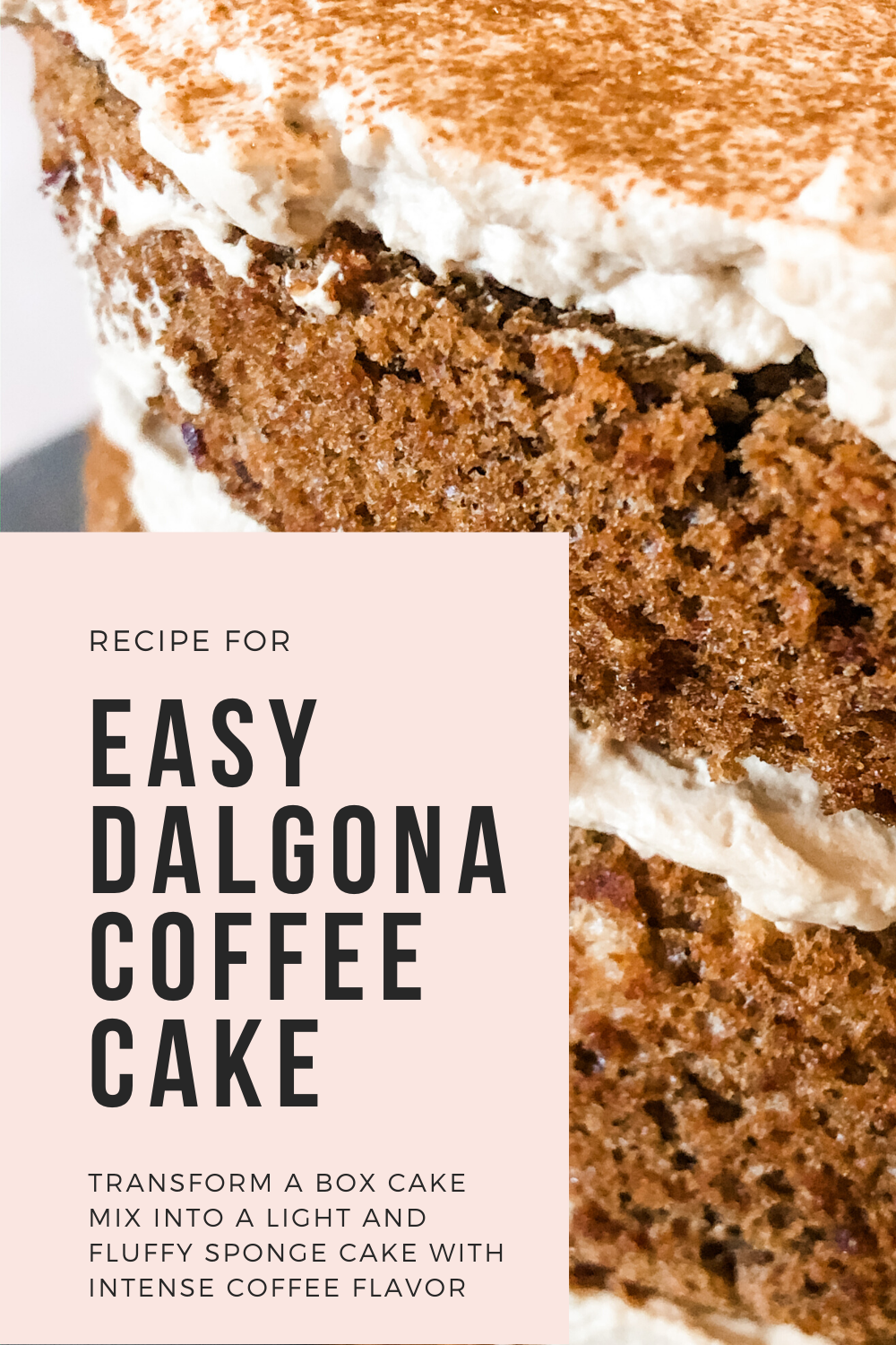 Easy Dalgona Coffee Cake in 2020 Coffee cake, Coffee
