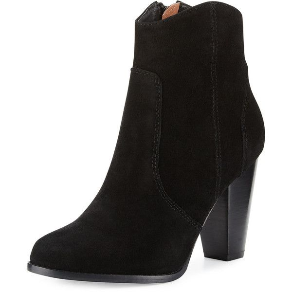 a70f687cc843 Joie Dalton Suede Western Bootie ( 345) ❤ liked on Polyvore featuring  shoes