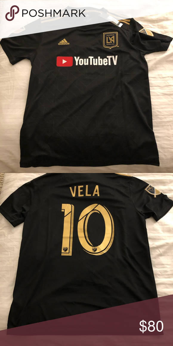 914d693c3 LAFC Carlos Vela adidas jersey - black, size M Adidas LAFC Carlos Vela  soccer jersey. Men's Size Medium. 100% authentic and never been worn!