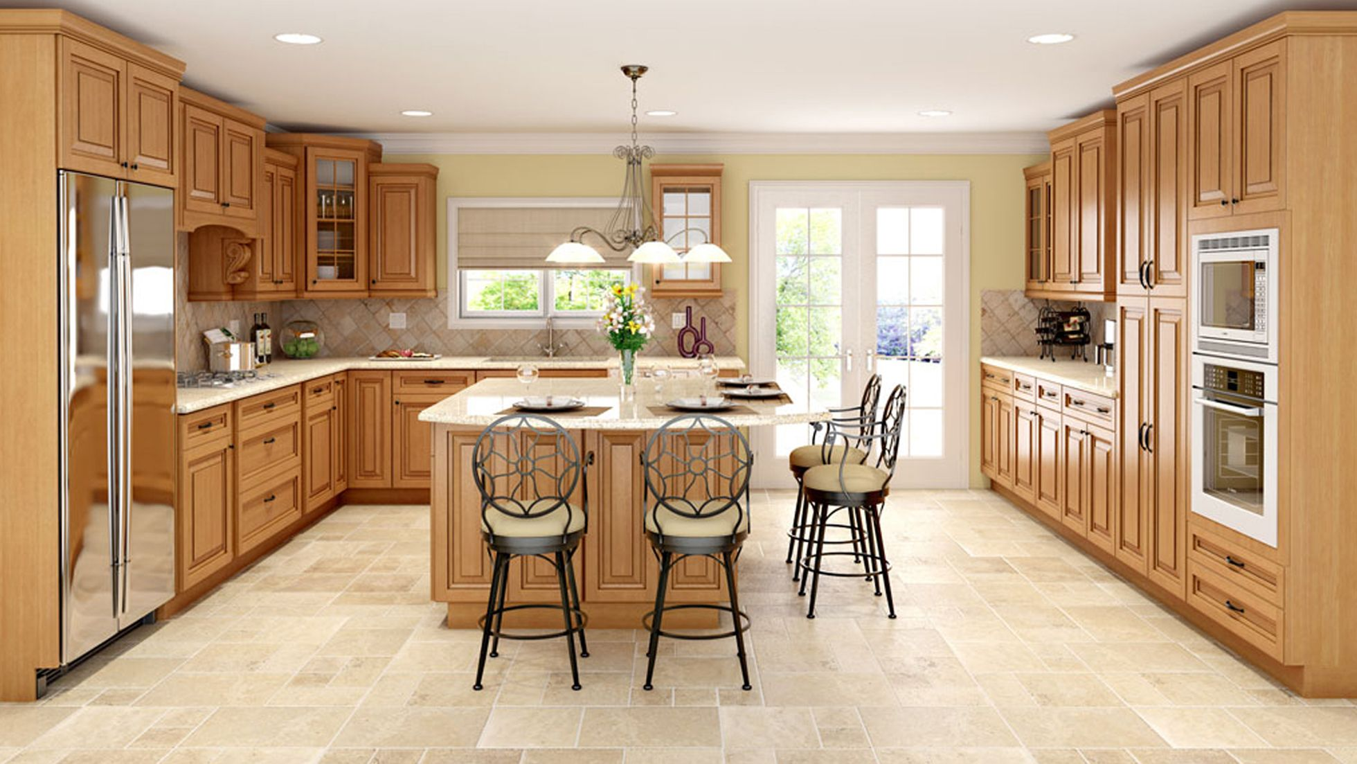 Sahara Sahara S Nutmeg Finish With A Soft Chocolate Gives This Classic Raised Panel A Tim Kitchen Cabinets Espresso Kitchen Cabinets Wholesale Kitchen Cabinets