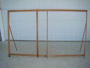 Vintage Wooden Curtain Stretcher By Quaker | EBay