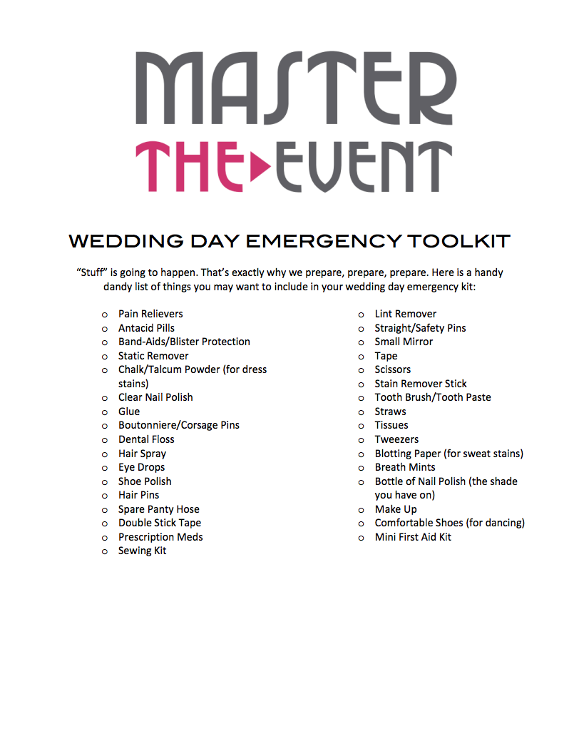 A List Of All The Essential Things You Ll Need On Your Wedding Day Wedding Day Pearl Choker Necklace Handy Dandy