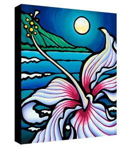 Hibiscus Moonlight- 16x20 Giclee on Canvas