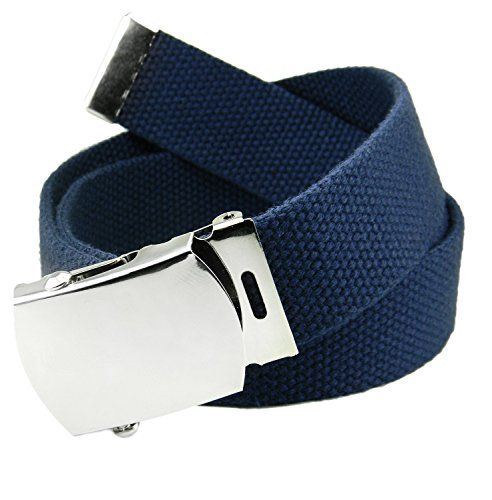 Boys Kids Children Cotton BLUE Check Sports Casual Pants Buckle Tie Belt strap