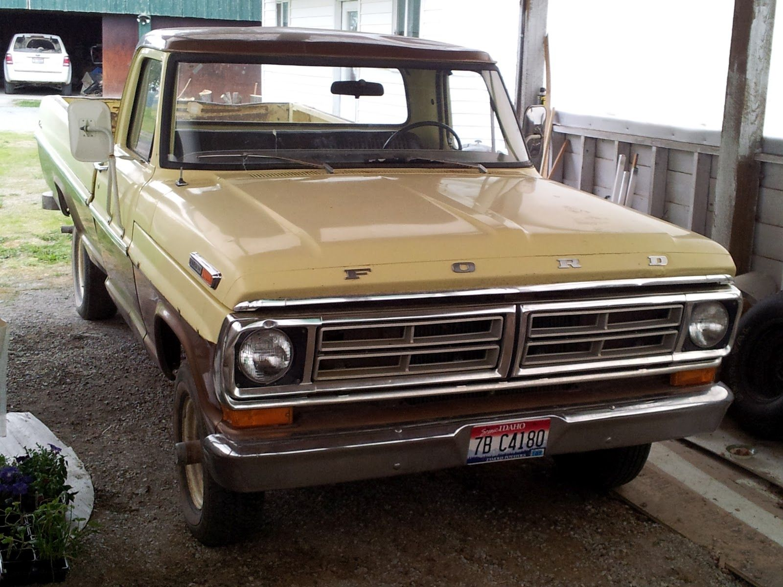 Our sweet ride: a 72 Ford F100.
