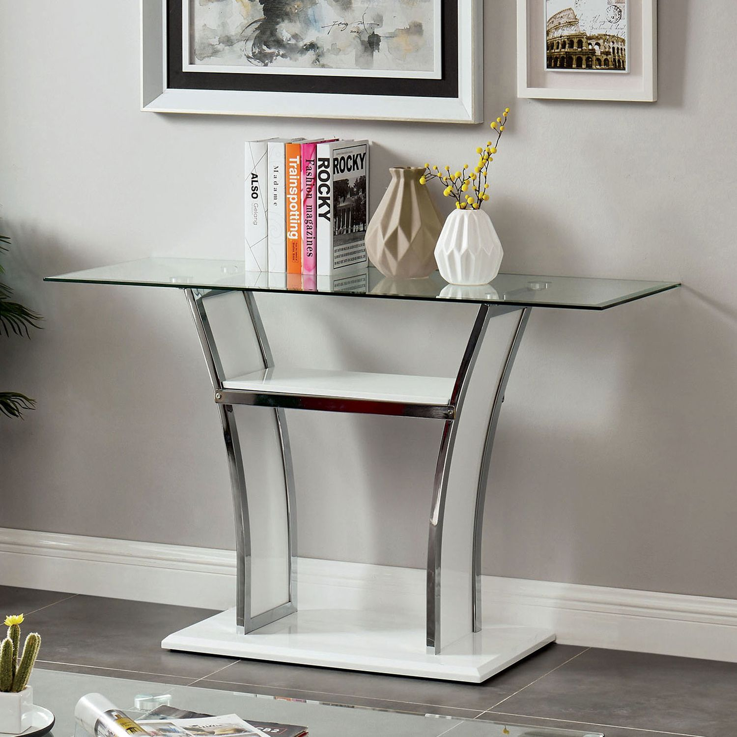 Staten White Coffee Table In 2020 Modern Sofa Table
