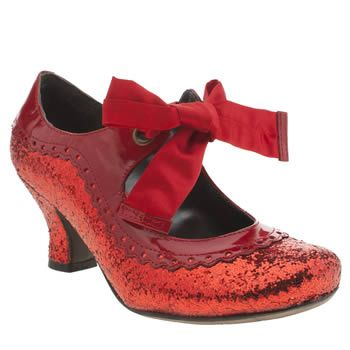 Dance The Night Away In Emerald City A Pair Of Noella Glitter Heels From Hush Puppies Featuring Man Made Red Glittery Upper
