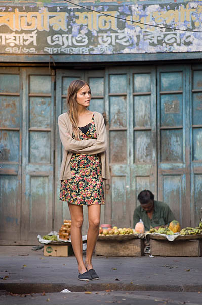 sweet Isabel Lucas in floral dress.