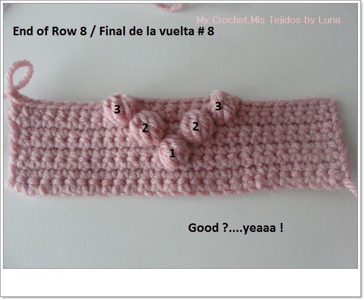 """Crochet, motivo de punto con un patrón de """"shishechki"""" para cuadros. Debate en LiveInternet - Servicio de Diarios en línea de Rusia"""