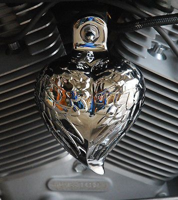 Chrome Dome Horn Covers Angel wings Heart Aluminium