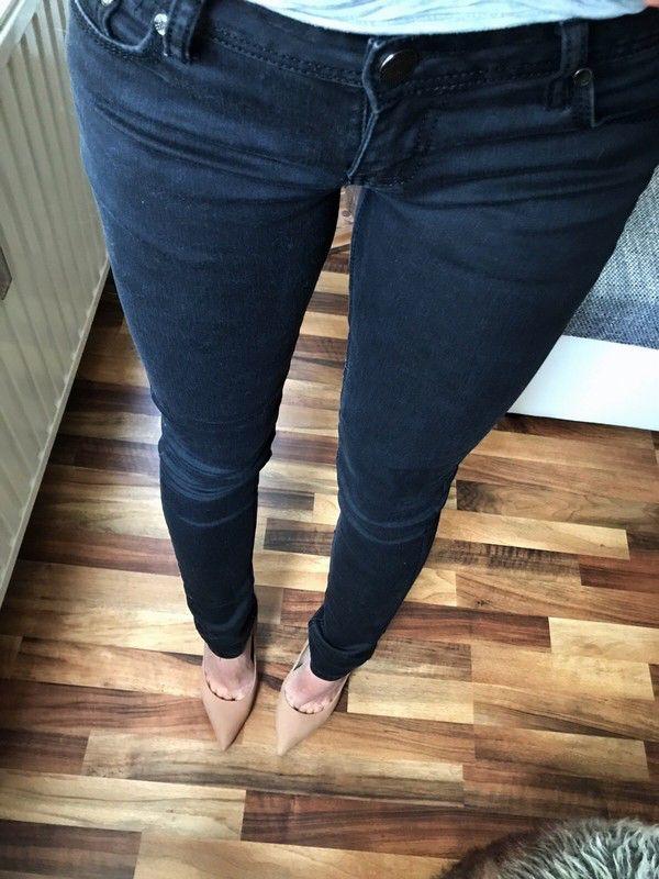 Schwarze jeans lange 36