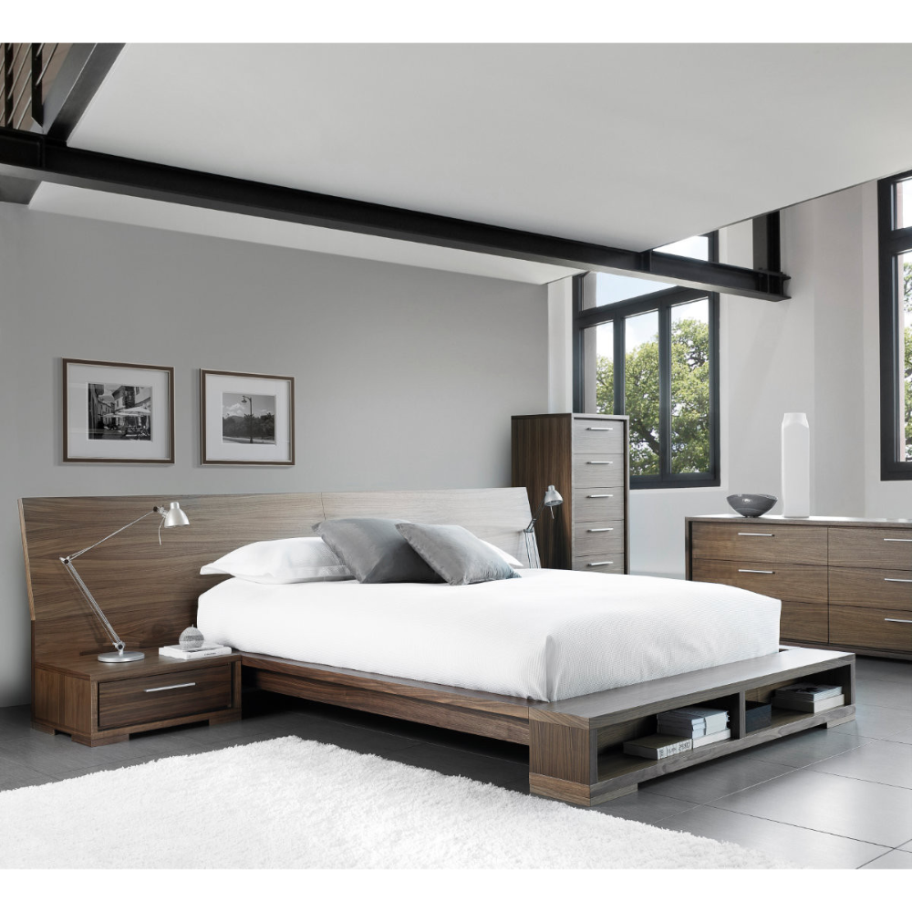 Sonoma Queen Bed with Wide Headboard Casalife