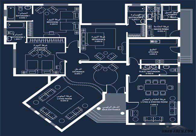 نموذج فيلا برنامج الشيخ زايد 15 المخطط Family House Plans Classic House Exterior House Plan Gallery