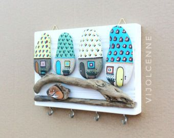 Stenen Muur Vernissen : Huizen wall decor magnets