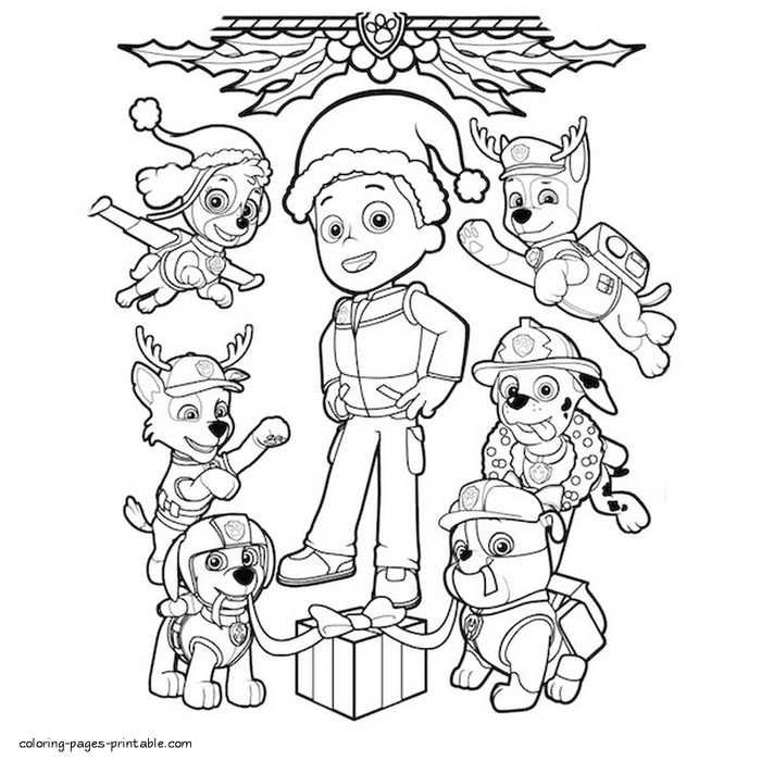 Paw Patrol Coloring Pages To Print Paw Patrol Coloring Paw Patrol Coloring Pages Paw Patrol Christmas