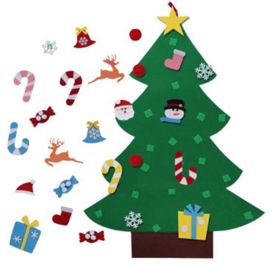 SALE! CREATEME™  Novelty 3 Foot/95cm Family Felt Christmas Tree Craft Tree Activity for Kids