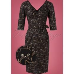 Photo of TopVintage Exclusive ' 60s Rita Cat Dress in Black and GoldTopvin