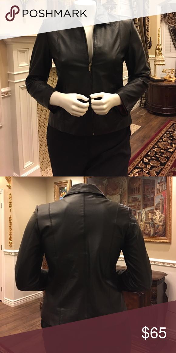 100% Genuine Leather Jacket Leather Jacket. Worn coupe of times Jackets & Coats