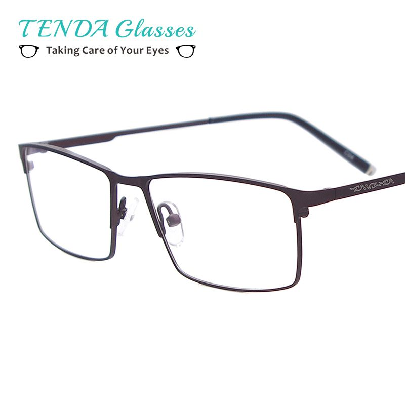 f35e364cad2 compare prices metal full rim glasses men big size rectangle prescription  eyeglass frames for optical  eyeglass  lenses