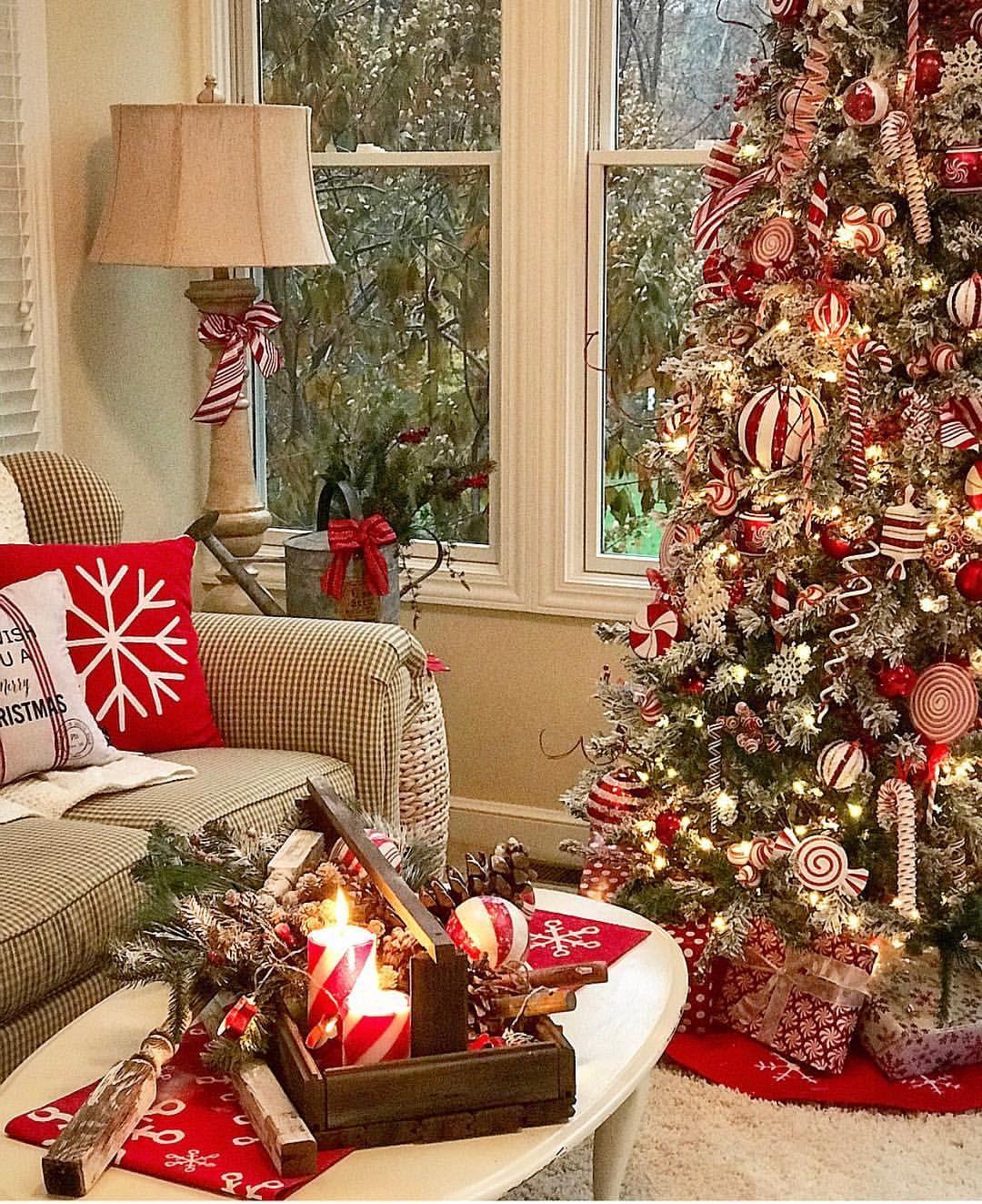 Decoration De Noel Salon Inspiration De Decorations Et D Amenagement Interieur De Noel Noel H Christmas Room Fun Christmas Decorations Christmas Home