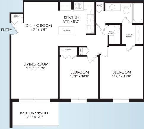 Juniper Two Br Apt Floor Plans Open Concept Floor Plans Apartments For Rent