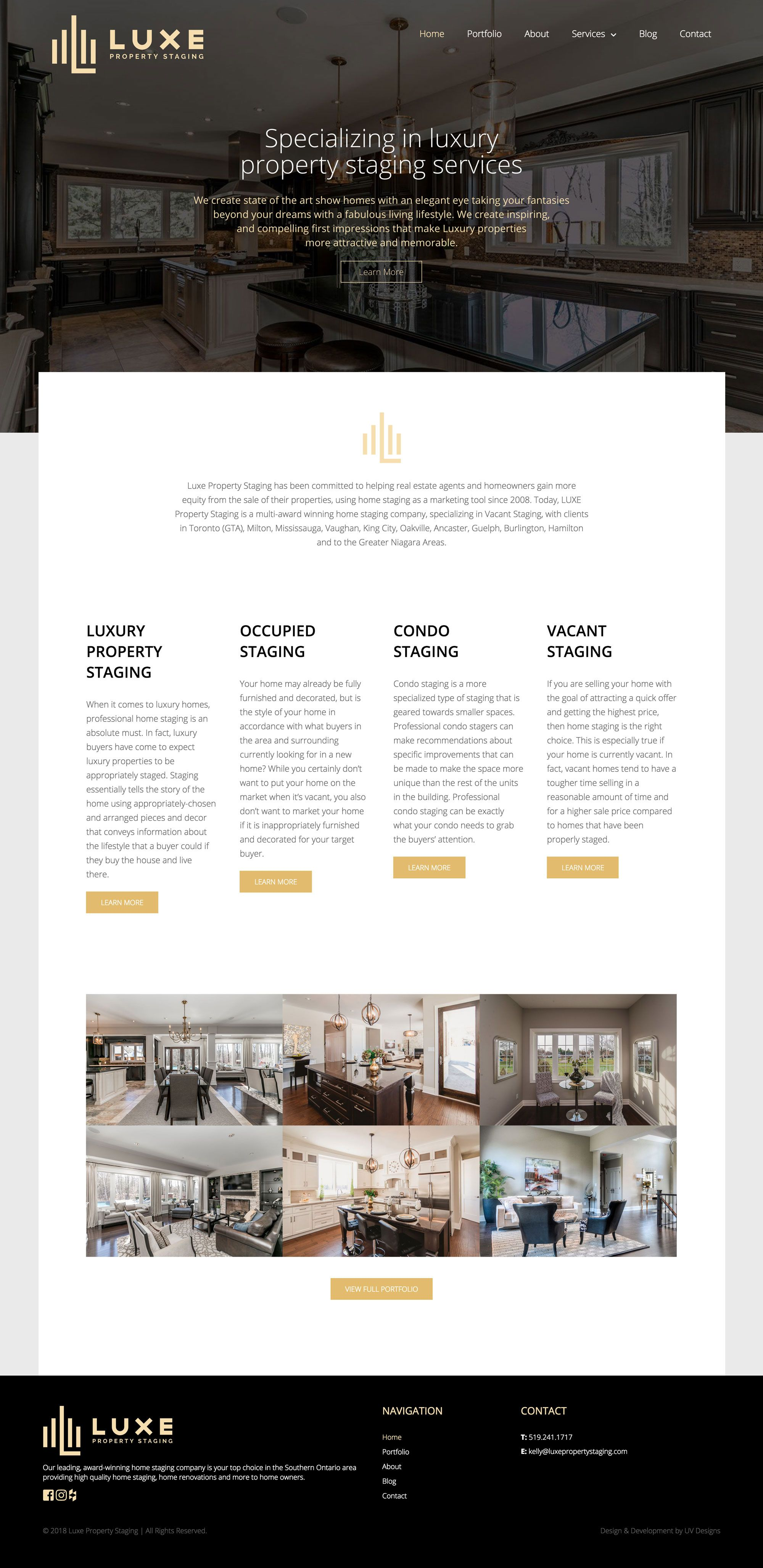 Luxe Home Staging Web Design Project | Business website, Website ...