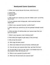 Newlywed Questions For Anniversary Party Newlywed Game Questions Newlywed Game Anniversary Party Games