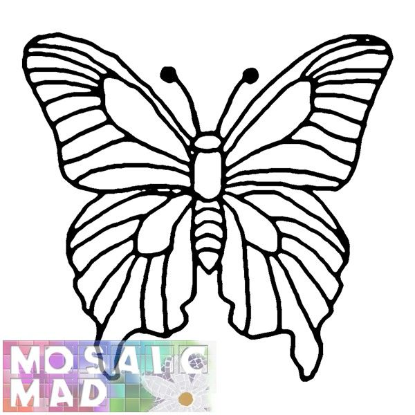 Free Mosaic Patterns Butterfly Animal Butterfly 1 Pattern