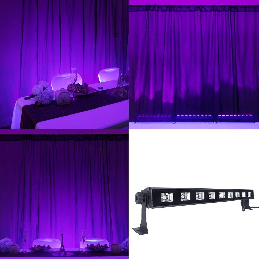 27w 9led purple uv bar glow in the dark blacklight wall