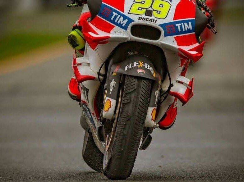 Iannone Mobili ~ Ot andrea iannone s front tyre after racing hard on a drying