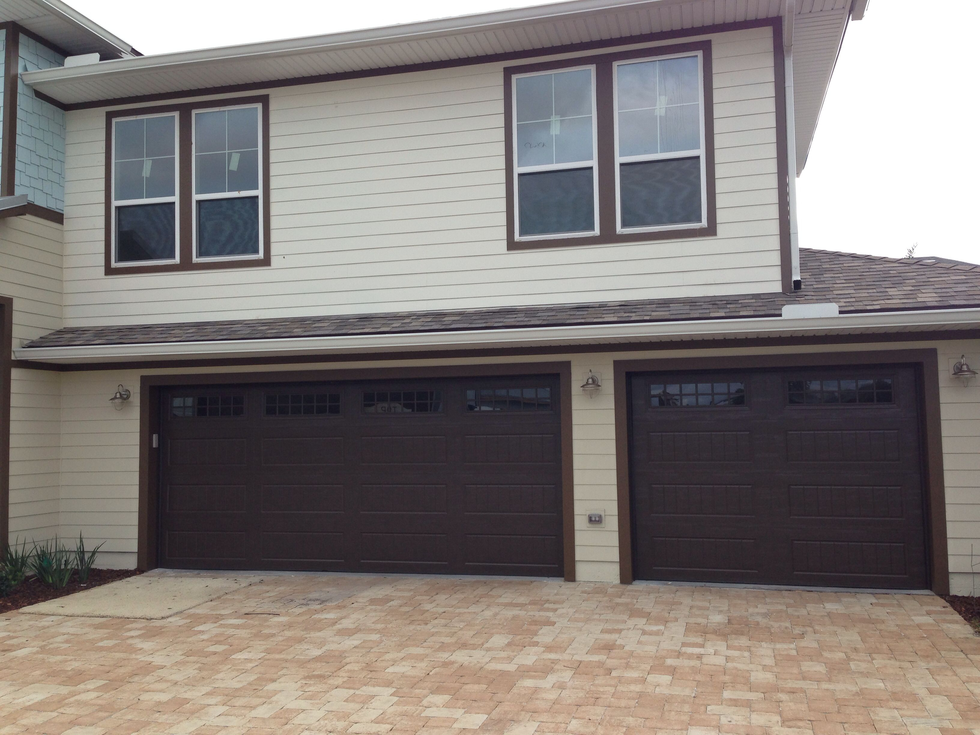 New Garage Doors Installed In Avalon In Jacksonville Beach. Amarr Oak  Summit 2000 With Stockton