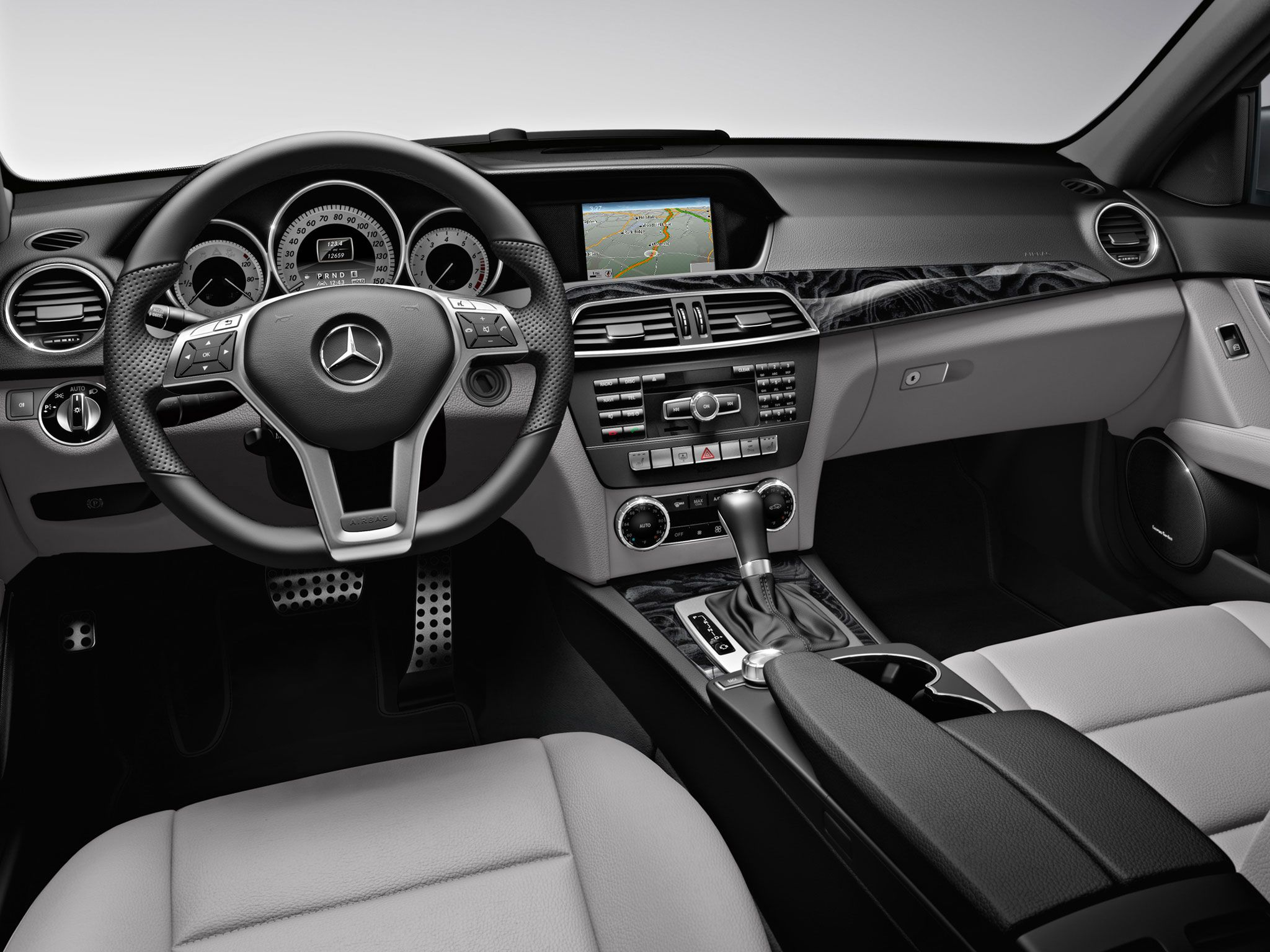 medium resolution of 2013 mercedes c350 sedan interior in ash leather