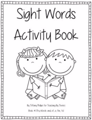 Sight Words Activity Book #1 from Teaching By Threes on