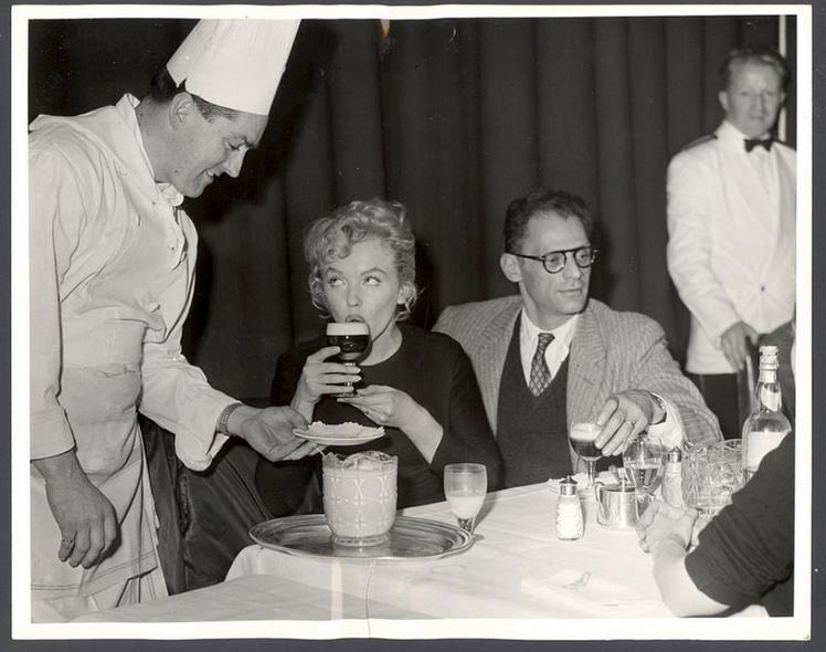 Marilyn Monroe sipping an Irish Coffee