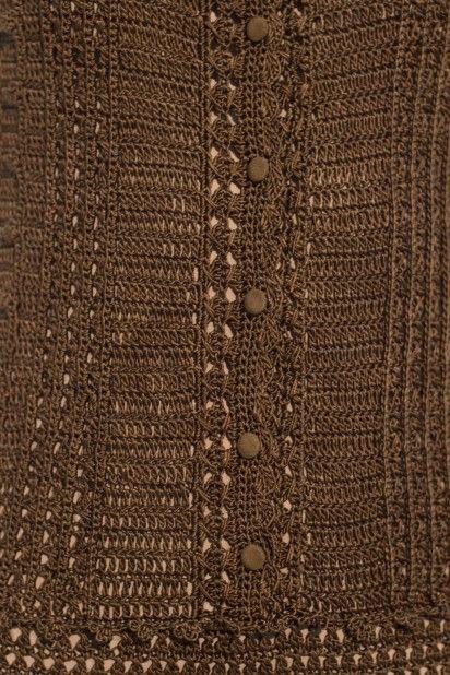 MACACAO VINTAGE VERDE MILITAR - Vanessa Montoro - Handmade Silk - 8.980,00