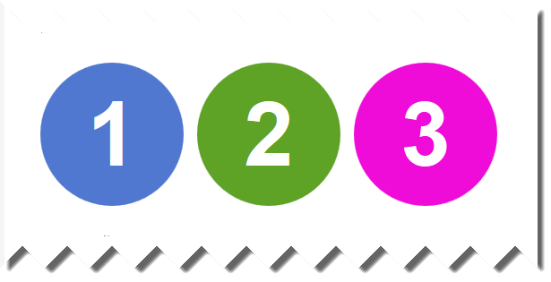 Colored Numbered Circles Using Pure Css Htmlusing The Wordpress