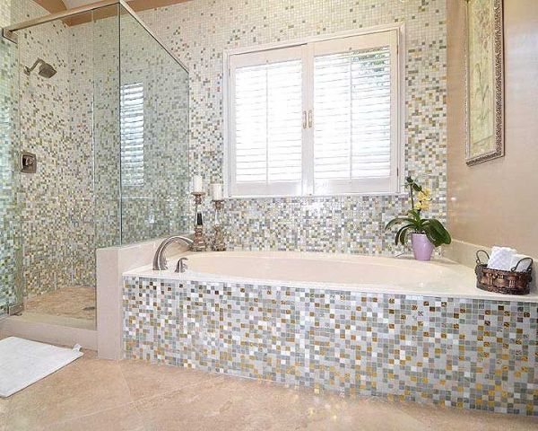 Merveilleux Stylish Bathroom Mosaic Tile Designs 15 Mosaic Tiles Ideas For An Exquisite  Bathroom Design Top Dreamer