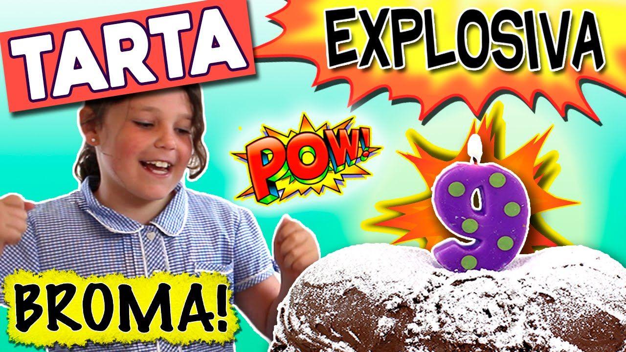 PASTEL o TARTA explosiva * BROMAS caseras fáciles para niños ...