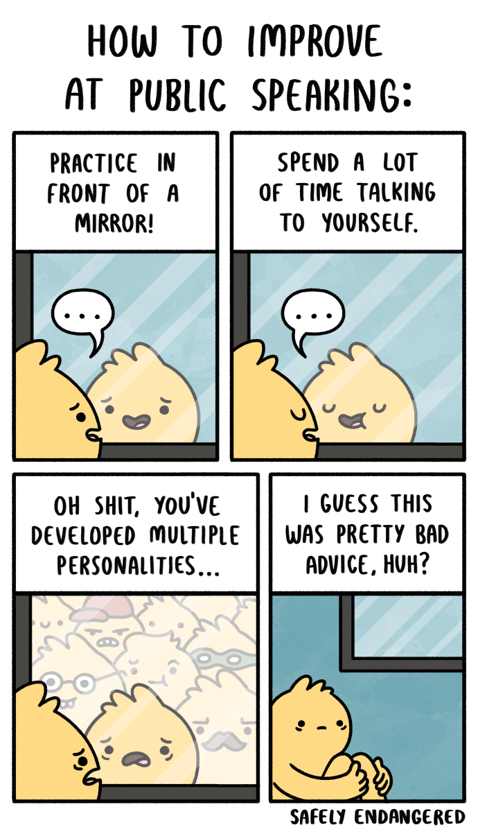 Safely Endangered - Public Speaking | Funny comic strips ...