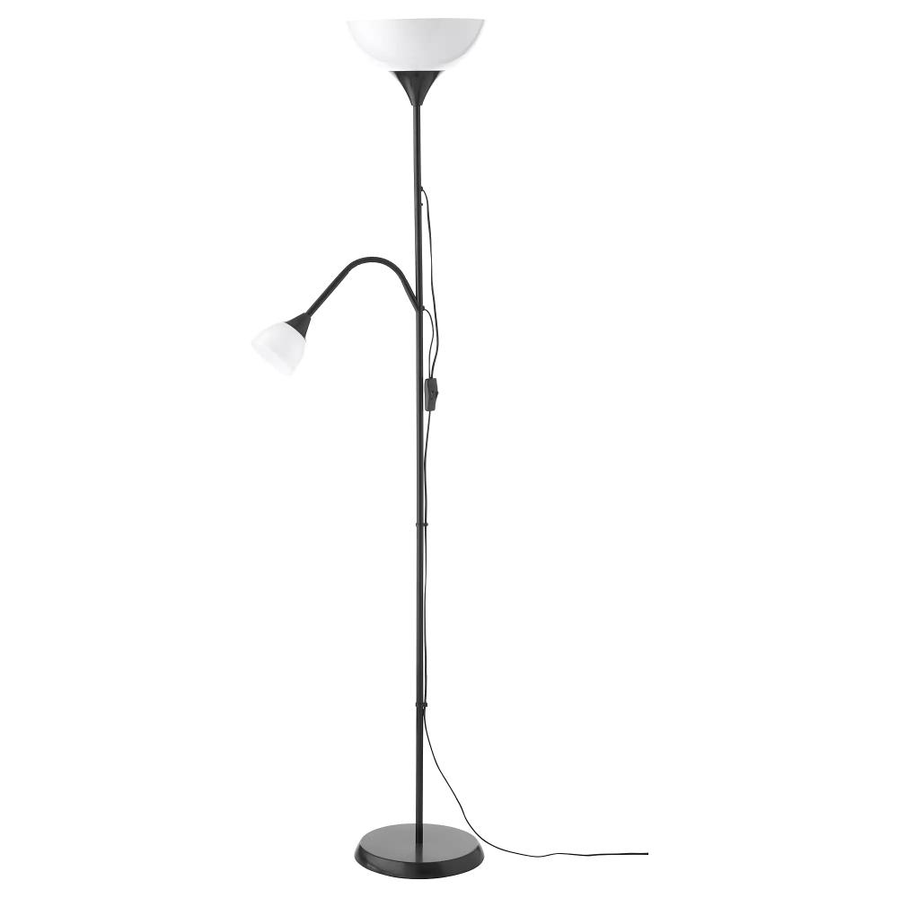 Not Floor Uplight Reading Lamp Black White Ikea Lampadaire Liseuse Lampadaire Lampes Noires