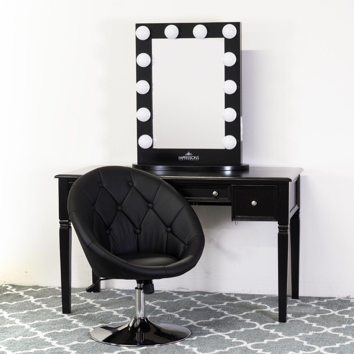Hollywood Vanity Mirrors Black Vanity Table Black Vanity