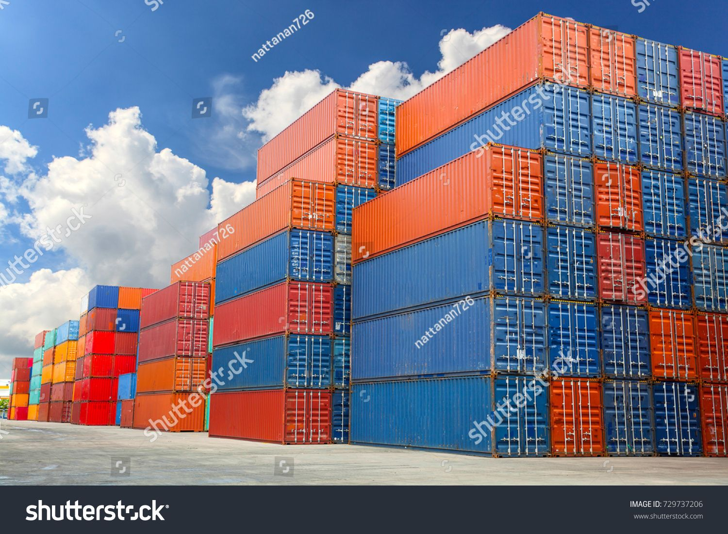 Industrial Container Yard For Logistic Import Export Business Yard Container Indu Shipping Containers For Sale Shipping Container Containers For Sale
